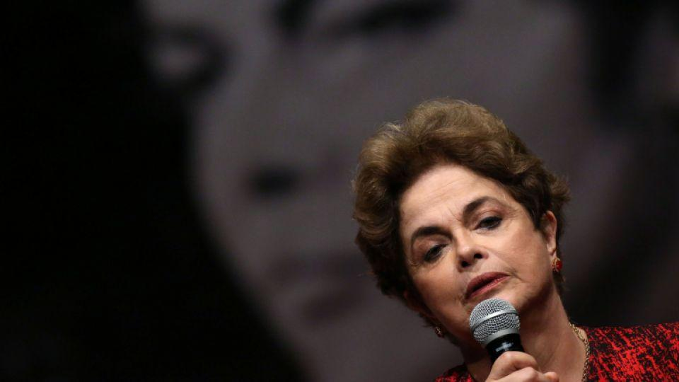 Brazil's suspended President Dilma Rousseff speaks during a meeting with people from pro-democracy movements in Brasilia, Brazil, August 24, 2016.