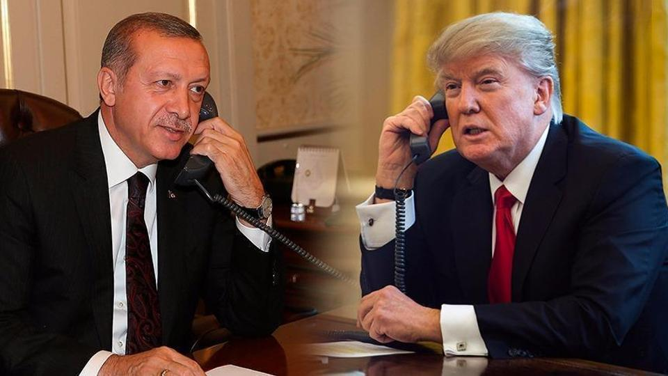 Image result for photos of president on phone with erdogan