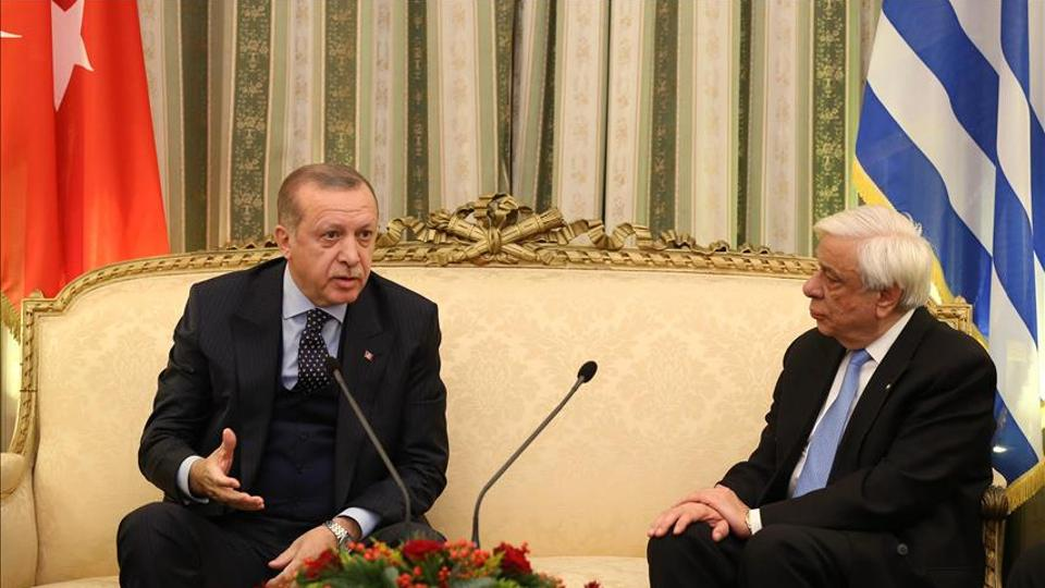 Turkish President Recep Tayyip Erdogan and Greek President Prokopis Pavlopoulos traded barbs over updating the Treaty of Lausanne, which determined both countries' respective borders, last December. It was the first presidential visit to Athens by a Turkish leader in 65 years