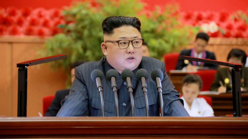 North Korean leader Kim Jong-Un gives a speech at the 9th Congress of the Kim Il Sung Socialist Youth League in this undated photo released by North Korea's Korean Central News Agency (KCNA) in Pyongyang on August 29, 2016.