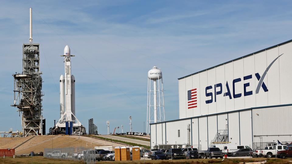 SpaceX already has lined up its first three paying missions for the Falcon Heavy, including the planned launch of two passengers on a tourist trip around the moon. February 5, 2018.