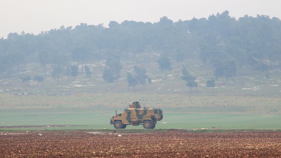 A convoy of Turkish Armed Forces moves to the fourth observation point in Syria's Idlib on February 5, 2018, set to be established in accordance with the Astana agreement.