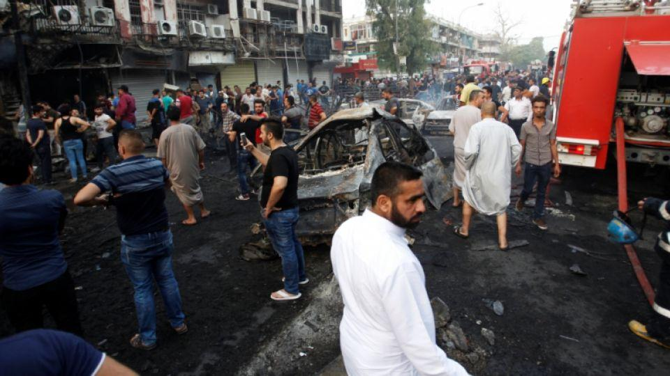 FILE PHOTO: A suicide bombing in early July rocked Baghdad's popular Karada district, killing at least 300 people.