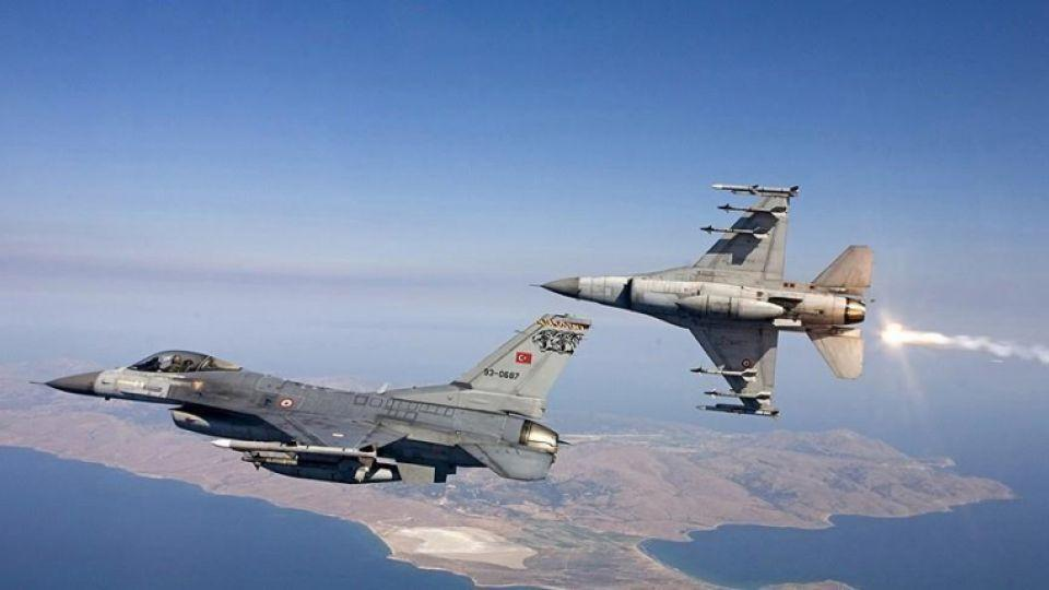 In this file photo Turkish fighter jets can be seen soaring through the sky.