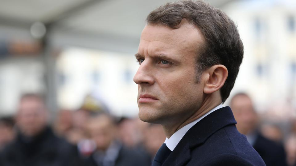 French President Emmanuel Macron took a hard stance against the Assad regime on Tuesday.