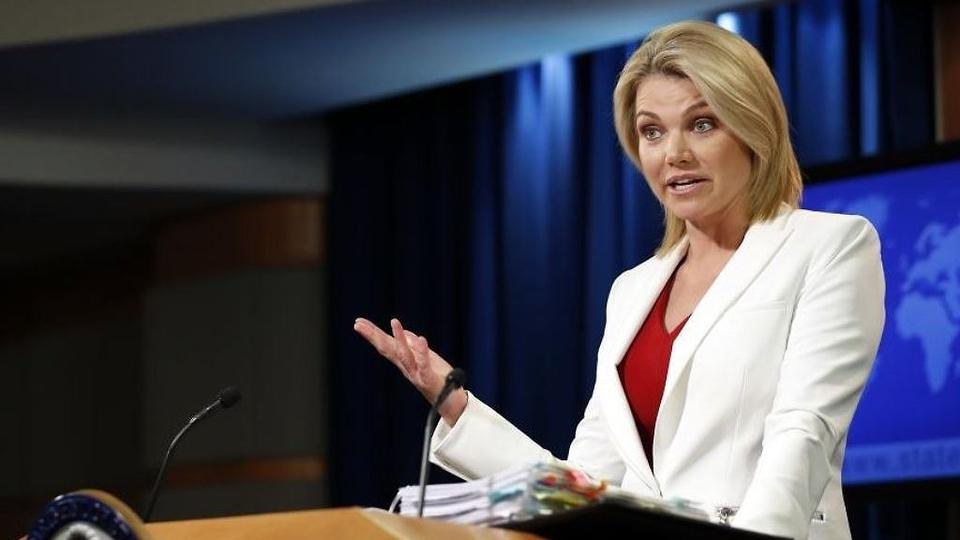 State Department spokeswoman Heather Nauert speaks during a briefing at the State Department in Washington, Wednesday, August 9, 2017.