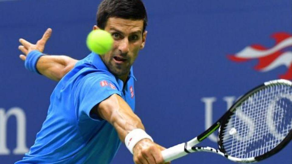 Men's world number one Novak Djokovic in action during the US Open in New York.