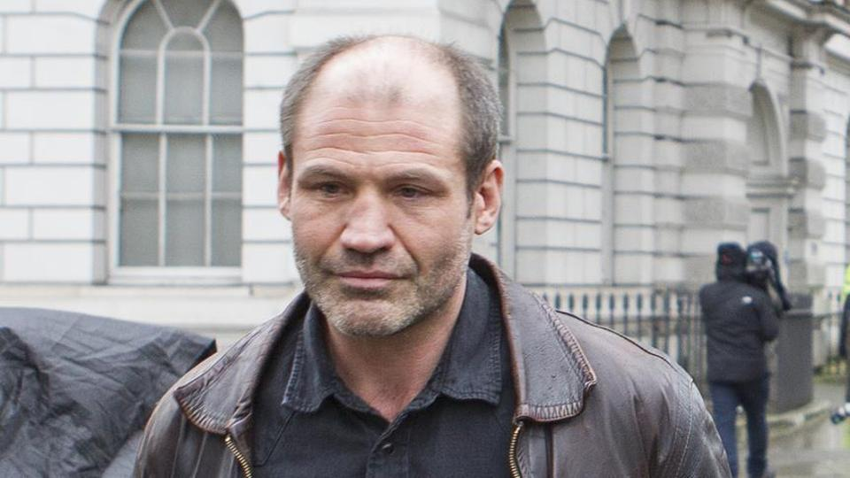 Former British soldier Jim Matthews appears in front of the Westminster's Magistrates Court after being accused of terror-related offenses on February 14, 2018.