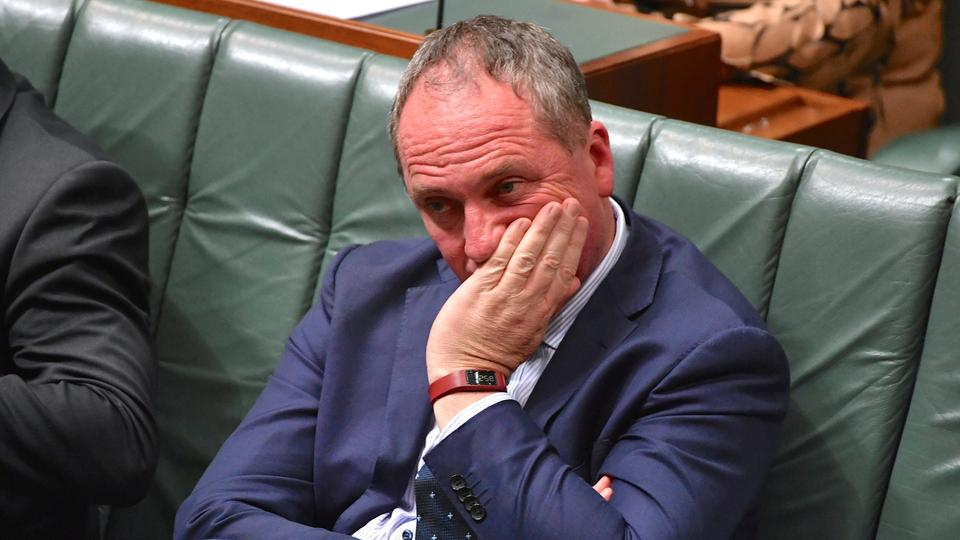 Australian Deputy Prime Minister Barnaby Joyce in the House of Representatives at Parliament House in Canberra, Australia. October 25, 2017.