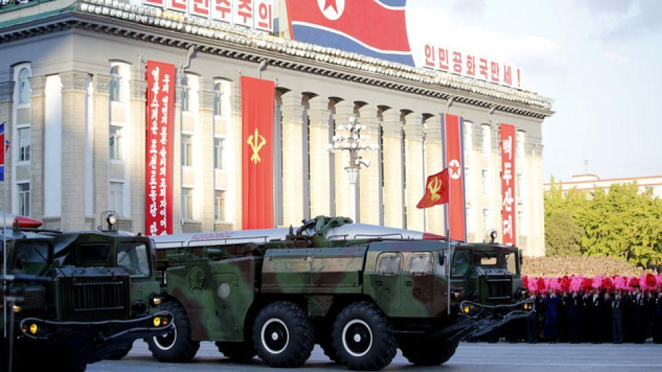 North Korea shows of its missiles during a parade celebrating the 70th anniversary of North Korea's Workers' Party