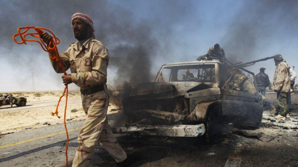 Britain and France led international efforts to back rebels fighting to overthrow Libya's then-leader Muammar Gaddafi and impose a no-fly zone over the country.