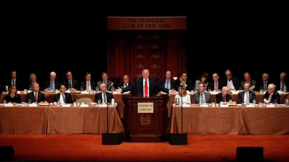 Trump speaks to the Economic Club of New York luncheon in Manhattan, New York, September 15, 2016.