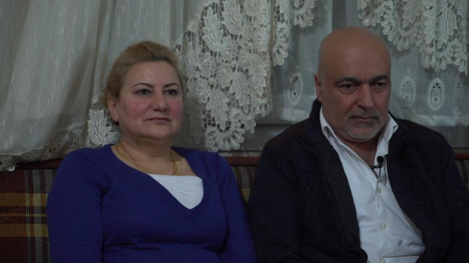 Azad Osman and Sefira Sido, who are Syrian Kurds from Afrin, are now living in Turkey's Mersin province along with their children. They have long been persecuted by the Assad regime.