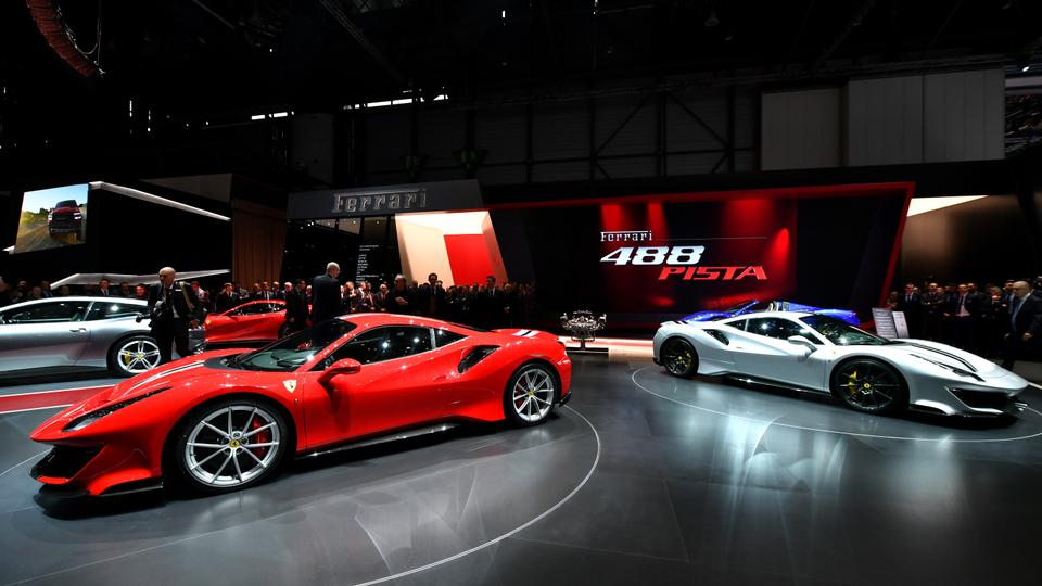 Geneva Car Show Unveils New Generation Of Supercars - Ferrari car show