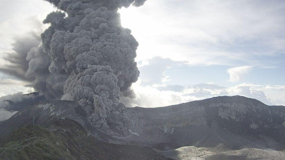 Turrialba volcano in Costa Rica erupted on Monday, sending a thick ash cloud into the sky, Sept. 19, 2016.