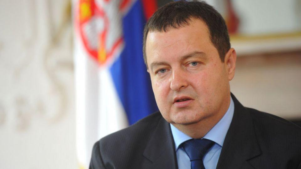 Republika Srpska's Foreign Minister Ivica Dacic speaks in an interview.