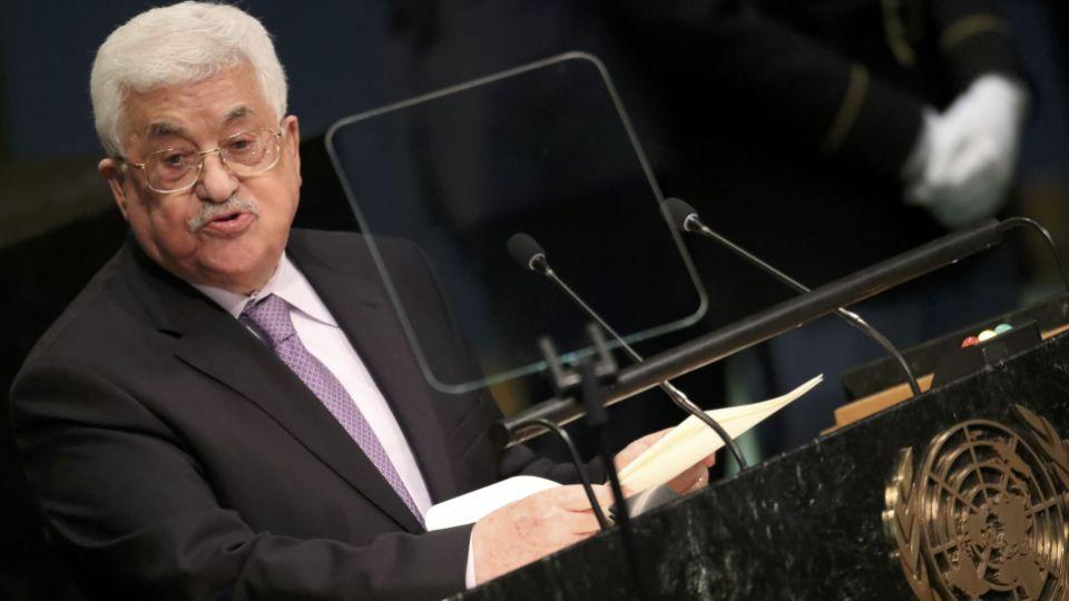President Mahmoud Abbas of Palestine addresses the 71st United Nations General Assembly in Manhattan, New York, US September 22, 2016.