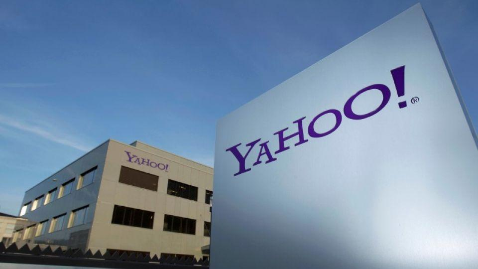 A Yahoo logo is pictured in front of a building in Rolle, 30 km east of Geneva. The tech company has announced the breach at a time when it is gearing up to sell its internet business in a multibillion dollar deal.