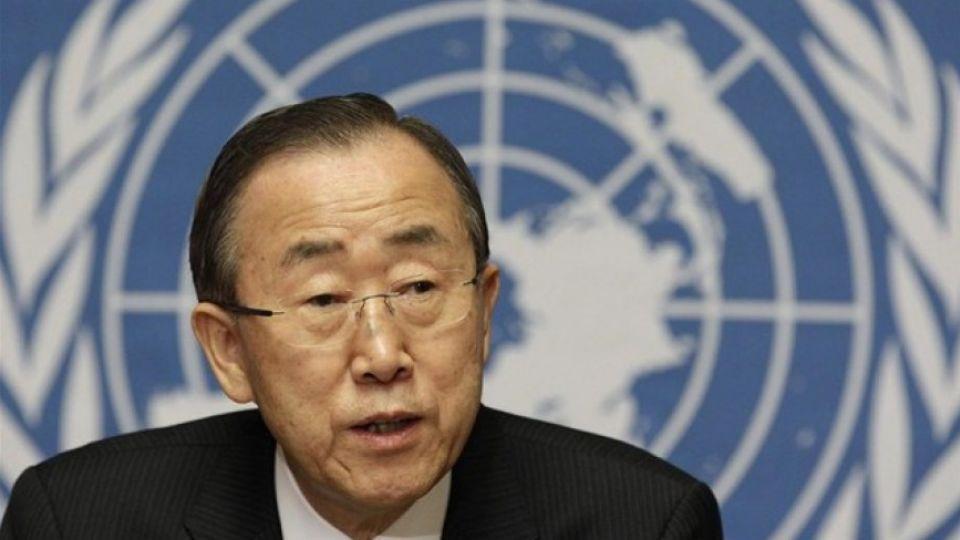 UN Secretary General Ban Ki-moon.