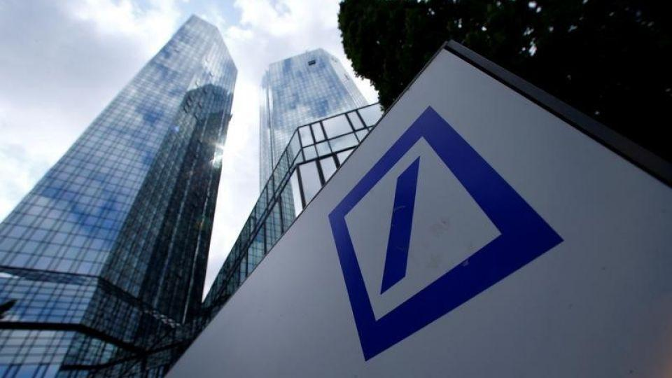 A Deutsche Bank logo adorns a wall at the company's headquarters in Frankfurt, Germany June 9, 2015.