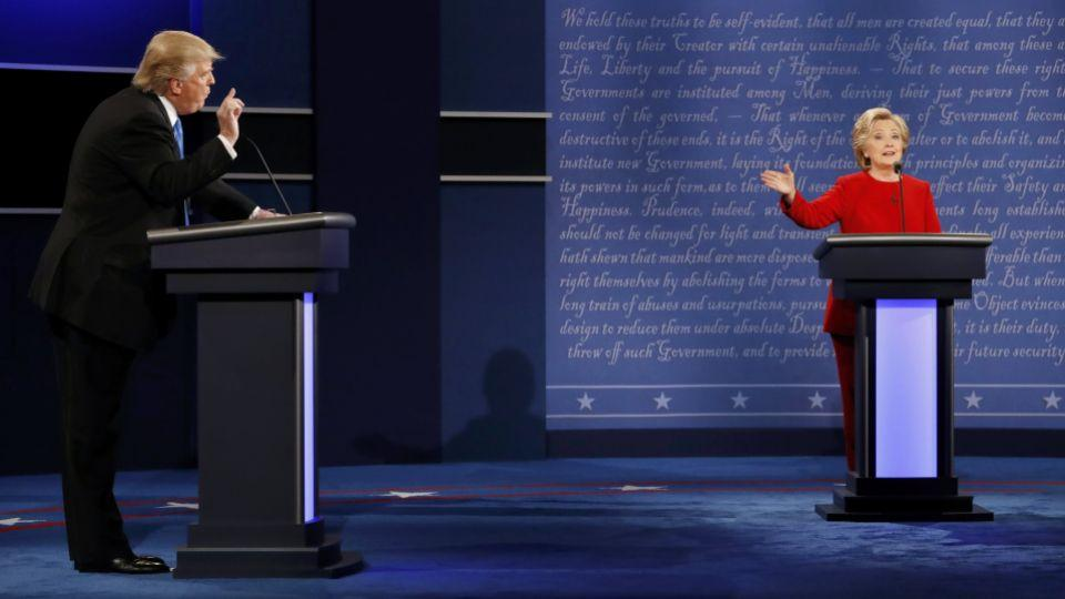 The first televised presidential debate between Donald Trump and Hillary Clinton.