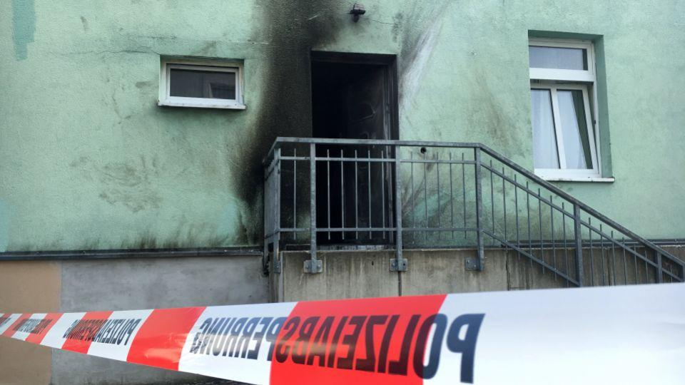 No arrests were made after a bomb exploded outside this mosque in Dresden, Germany on Monday night.