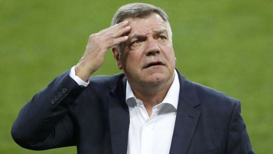 England manager Sam Allardyce gestures during a visit to the stadium in Trnava in Slovakia September 3, 2016.