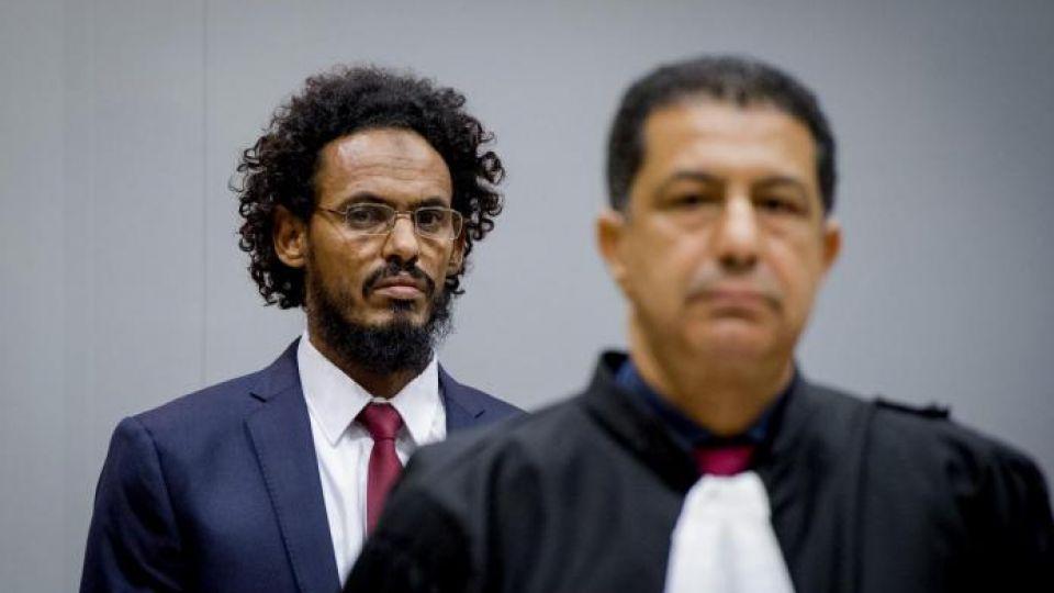 Ahmad Al Faqi Al Mahdi ( a.k.a. Abu Tourab) enters the courtroom of the International Criminal Court (ICC) in the Hague the Netherlands, September 30,2015.