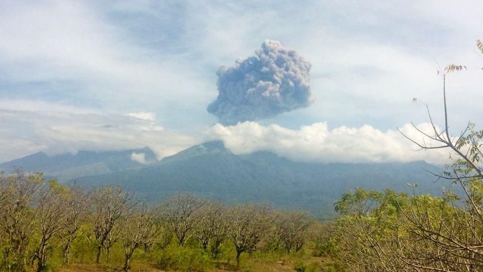 Mount Barujari, also known as the 'Child of Rinjani', is a subvolcano of Mount Rinjani. There are 130 active volcanoes in Indonesia. September 27, 2016.