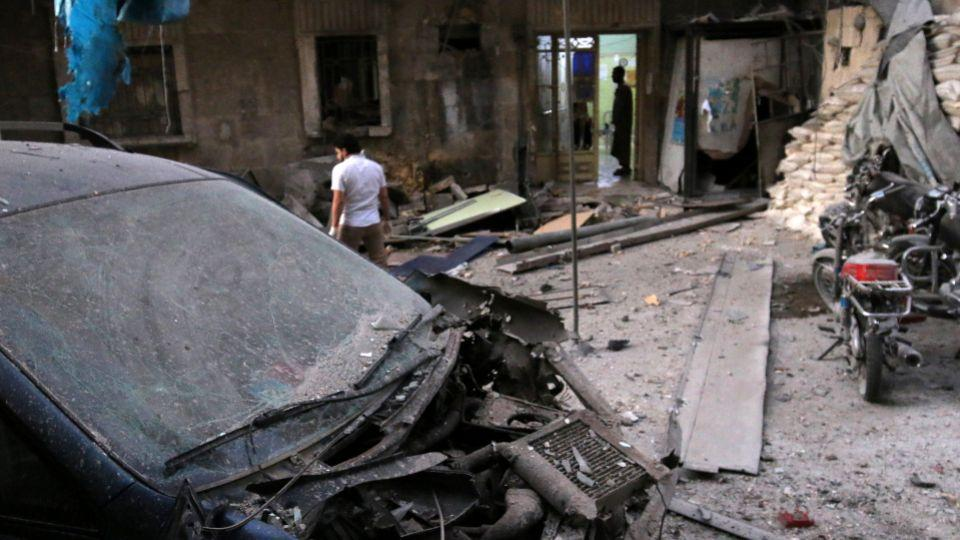 Air strikes hit two hospitals in opposition-held areas, rendering them temporarily dysfunctional.