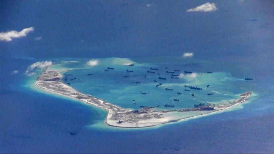 China claims most of the energy-rich waters of the South China Sea, through which about $5 trillion in ship-borne trade passes every year.