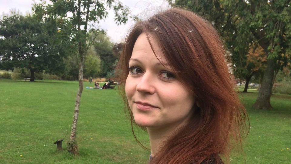 This is a file image of the daughter of former Russian Spy Sergei Skripal, Yulia Skripal taken from Yulia Skipal's Facebook account on Tuesday March 6, 2018. British health officials say the daughter of a Russian ex-spy has responded well to treatment and is no longer in critical condition after a nerve-agent attack.