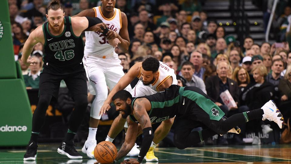 b06b547fe05d Boston Celtics guard Kyrie Irving (11) and Indiana Pacers guard Cory Joseph  (6