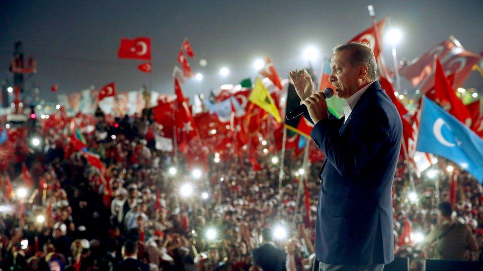 Turkey will continue fighting whatever powers seek to undermine the government, President Recep Tayyip Erdogan vowed last month as he addressed a massive flag-waving rally in Istanbul in the wake of the country's abortive July 15 coup.