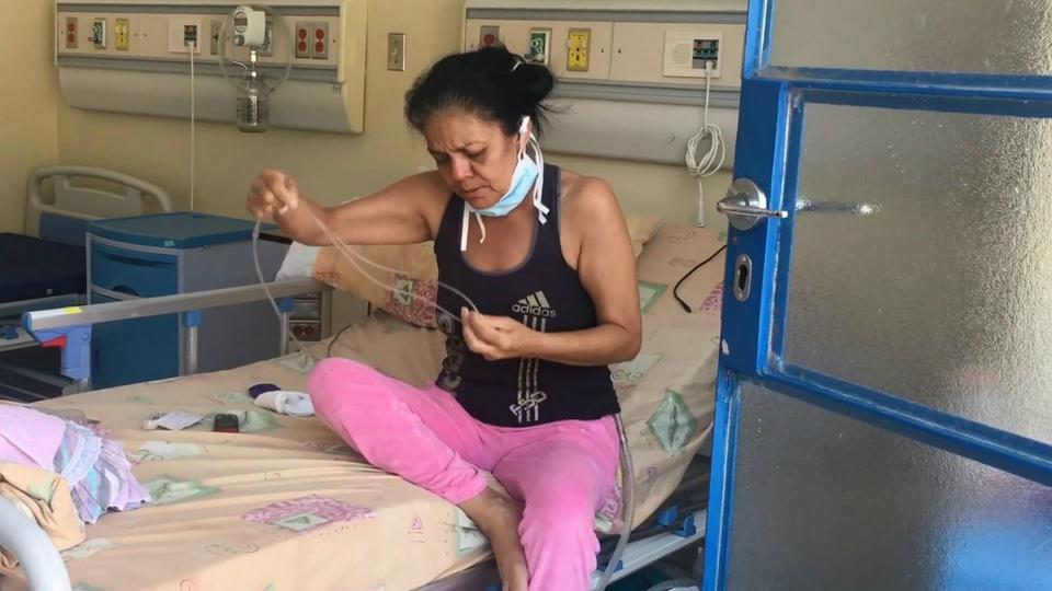 Marina Chia is a tuberculosis patient in Caracas, Venezuela,
