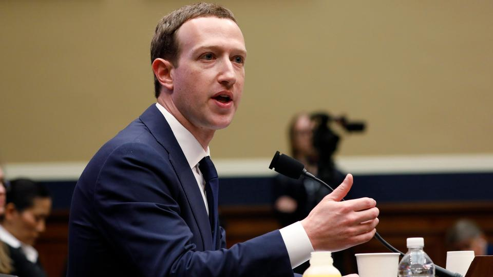 Facebook CEO Mark Zuckerberg testifies before a House Energy and Commerce Committee hearing regarding the company's use and protection of user data on Capitol Hill in Washington, US, April 11, 2018.