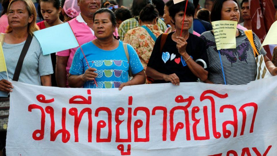 Thailand's economic development has come at a cost to local communities, leading to the killings and displacement of locals who continue to struggle for land rights. Monday's demonstration in Bangkok was one of the biggest since the May 2014 coup.