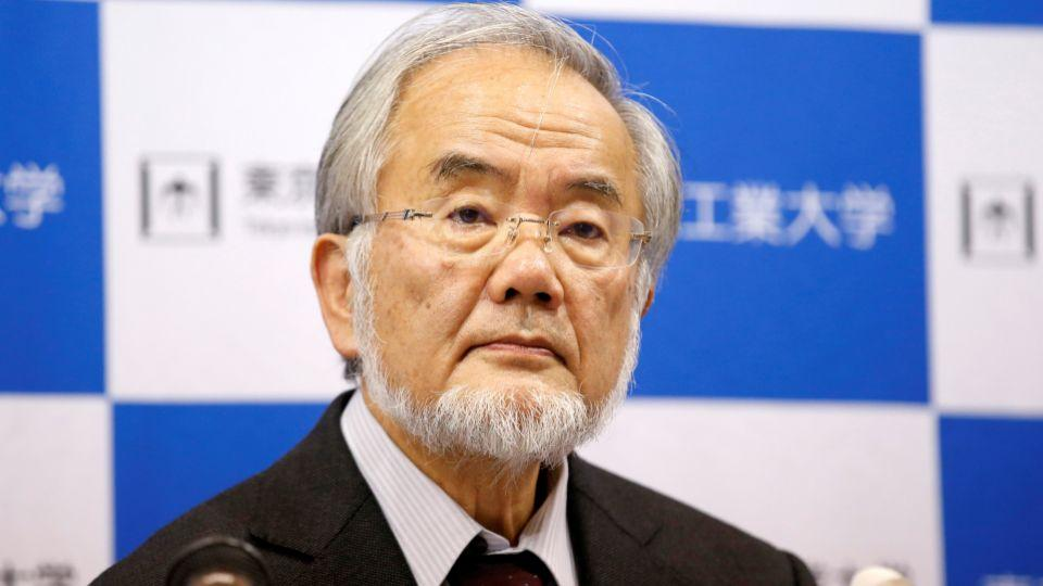 Yoshinori Ohsumi, a professor at the Tokyo Institute of Technology, attends a news conference after he won the Nobel medicine prize at Tokyo Institute of Technology in Tokyo, Japan, October 3, 2016.