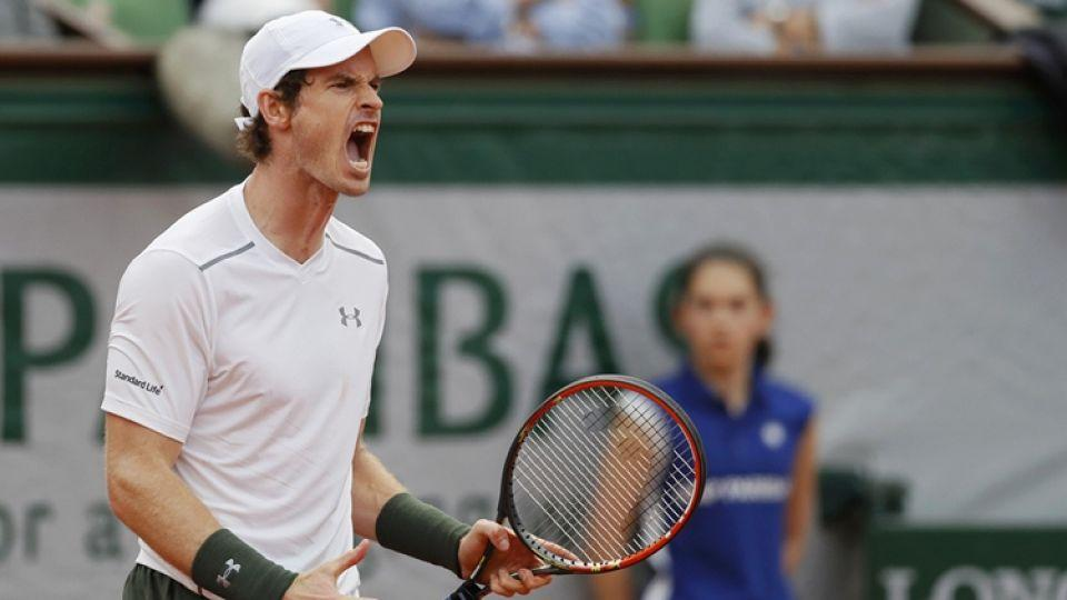 Britain's Andy Murray reacts after winning a match during the 2016 French Open in Paris, France.