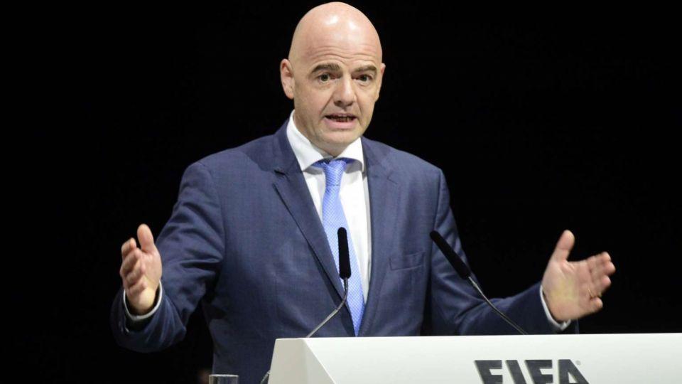 New FIFA boss Gianni Infantino addresses delegates at FIFA's headquarters in Zurich, Switzerland.
