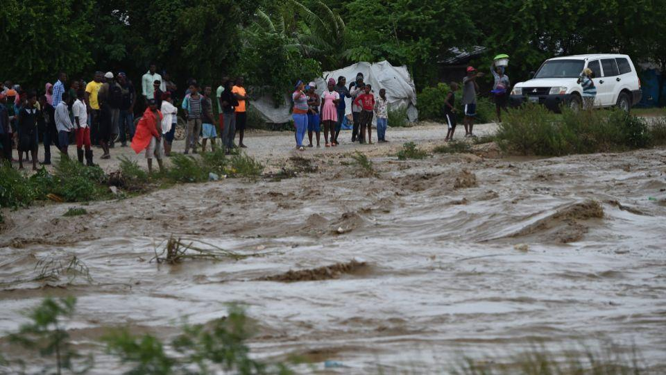 Hurricane Matthew slammed into Haiti, triggering floods and forcing thousands to flee the path of a storm that has already claimed three lives in the poorest country in the Americas.
