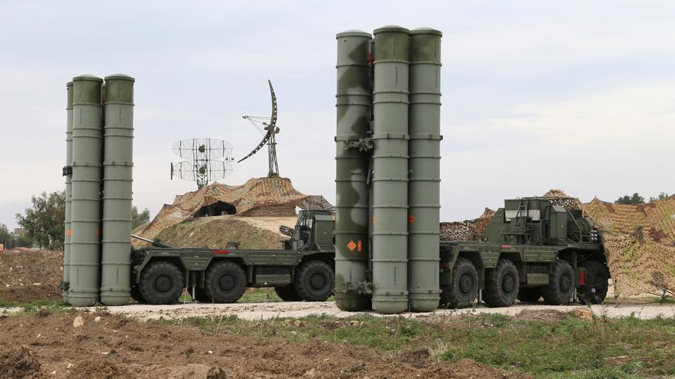 In this file photo taken Dec. 16, 2015 and provided by the Russian Defense Ministry Press Service, Russian S-400 long-range air defense missile systems are deployed at Hemeimeem air base in Syria. Russia's defense ministry said Tuesday, March 15, 2016.
