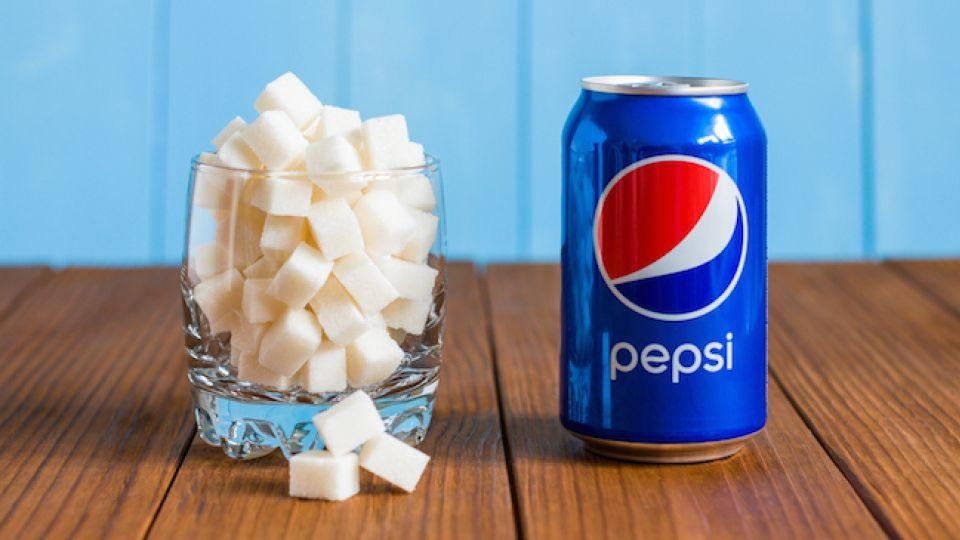 how much sugar is in diet Pepis