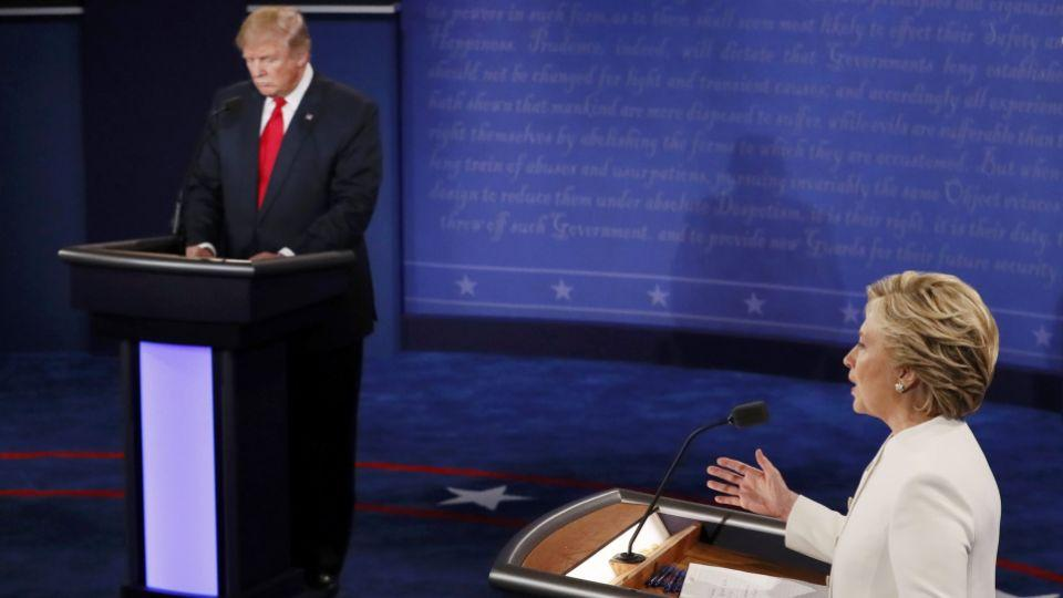 Clinton took aim at the reality television past of her opponent twice in the debate.