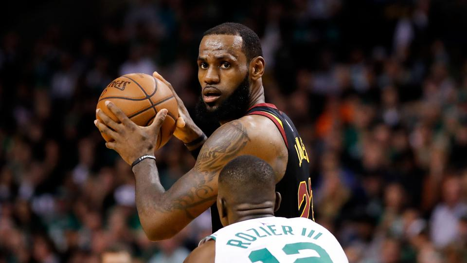 30a73a56a5c8 Cleveland Cavaliers forward LeBron James (23) looks to pass in front of Boston  Celtics
