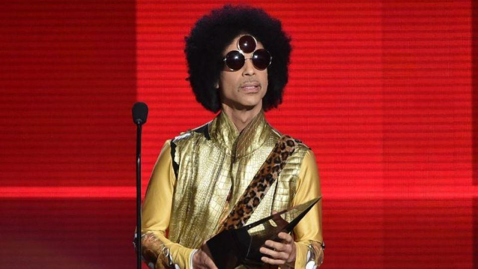 Prince speaks onstage during the 2015 American Music Awards at Microsoft Theater on November 22.