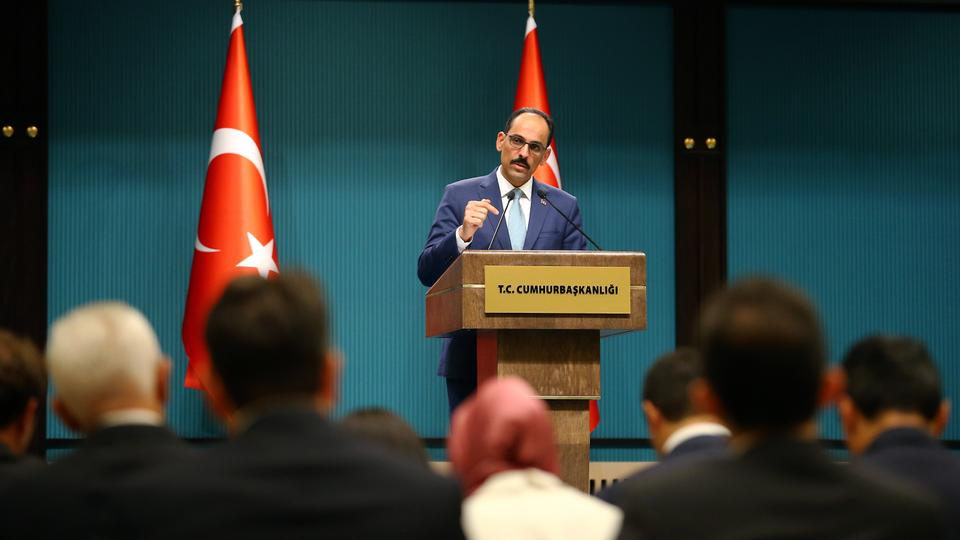 While maintaining the cabinet meeting under the leadership of President Recep Tayyip Erdogan in the Presidential Complex in Ankara, Presidential Spokesman Ibrahim Kalin held a press conference.
