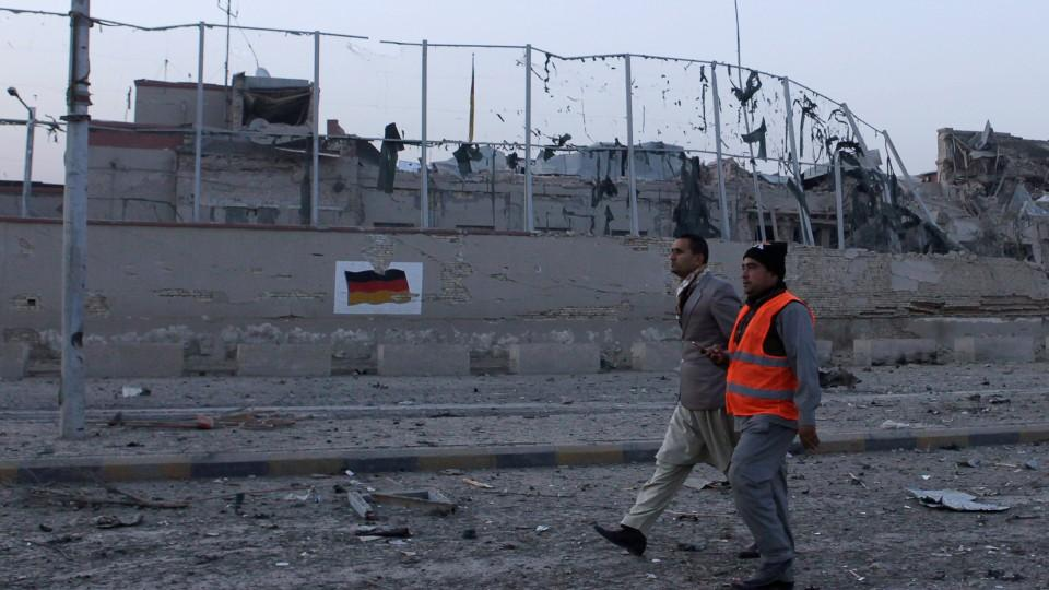In a previous attack last week, a suicide bomber targeted the German consulate in the northern Afghan city of Mazar-e-Sharif killing four people.