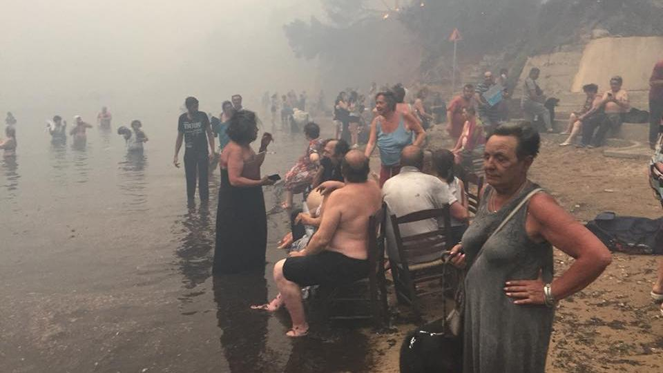 Greek media reported that once the fire broke, people rushed to the sea to save themselves.