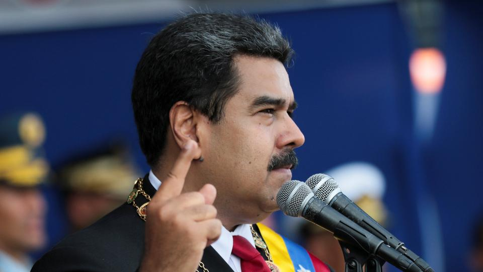 Venezuela's President Nicolas Maduro speaks during a ceremony to mark the birthday of the South American independence leader Simon Bolivar in Puerto Cabello, Venezuela on July 24, 2018.